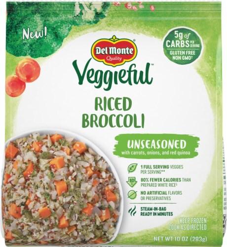 Del Monte Veggieful Unseasoned Riced Broccoli Perspective: front