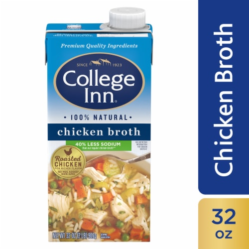 College Inn Less Sodium Chicken Broth Perspective: front
