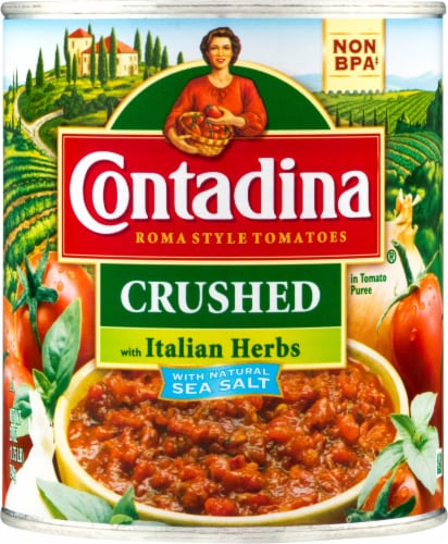 Contadina Crushed Tomatoes with Italian Herbs Perspective: front