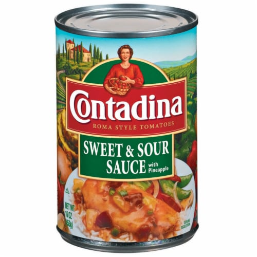Contadina Sweet & Sour Sauce with Pineapple Perspective: front