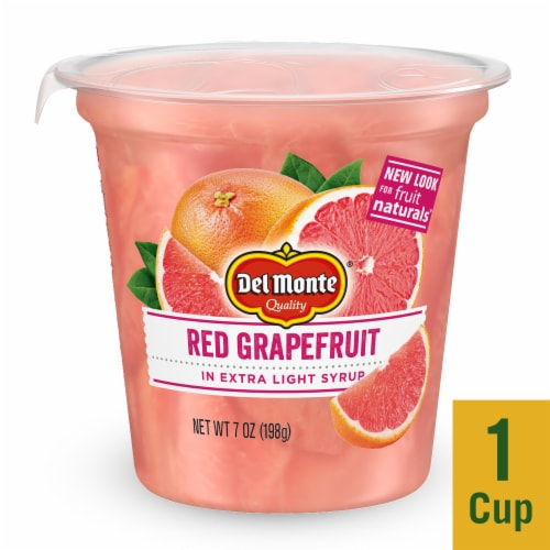 Del Monte Fruit Naturals Red Grapefruit Fruit Cup Perspective: front