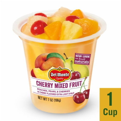 Del Monte Fruit Naturals Cherry Mixed Fruit Cup Perspective: front