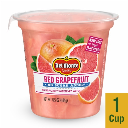 Del Monte Fruit Naturals No Sugar Added Red Grapefruit Fruit Cup Perspective: front