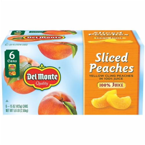 Del Monte Sliced Yellow Cling Peaches in Juice Perspective: front