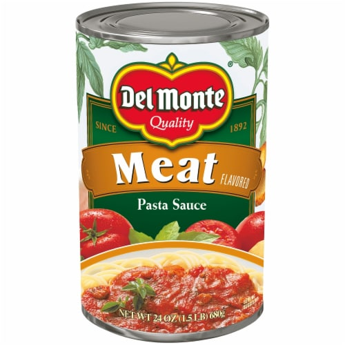Del Monte Meat Flavored Pasta Sauce Perspective: front
