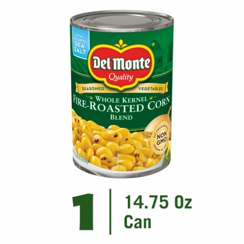 Del Monte Whole Kernel Fire-Roasted Corn Blend Perspective: front
