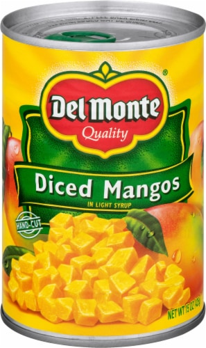 Del Monte Diced Mangos in Light Syrup Perspective: front