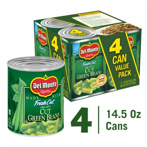 Del Monte Fresh Cut Blue Lake Green Beans Perspective: front