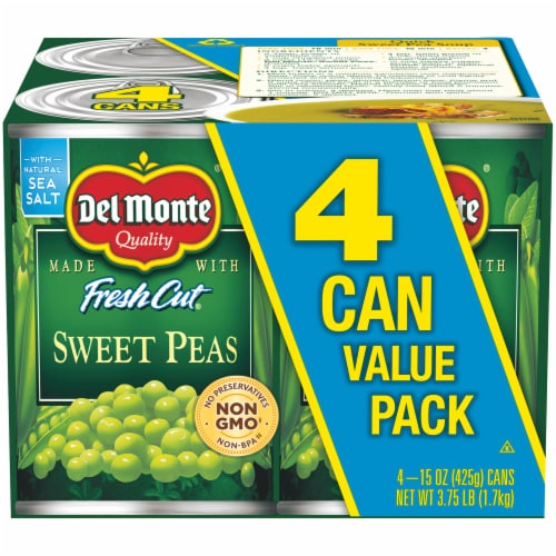 Del Monte Fresh Cut Sweet Peas Value Pack Perspective: front