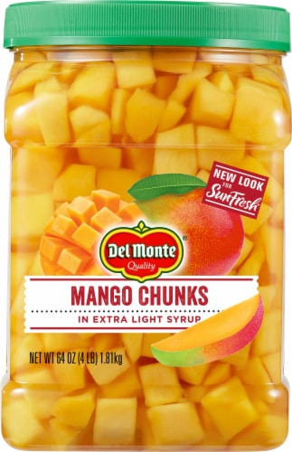 Del Monte SunFresh Mango Chunks in Extra Light Syrup Perspective: front