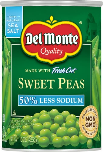 Del Monte Reduced Sodium Fresh Cut Sweet Peas Perspective: front