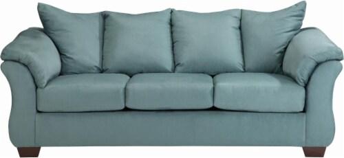 Signature Design By Ashley Furniture Bailey Sofa   Sky Teal   90 X 39 X 40  Inch