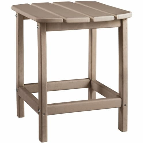 Ashley Furniture Sundown Treasure Patio End Table in Grayish Brown Perspective: front