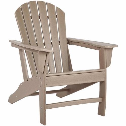 Ashley Furniture Sundown Treasure Adirondack Chair in Grayish Brown Perspective: front