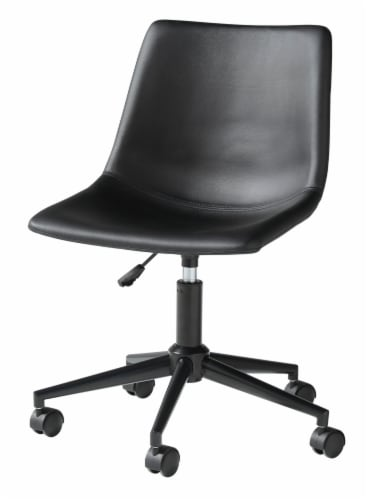 Ashley Furniture Home Office Swivel Desk Chair - Black Perspective: front