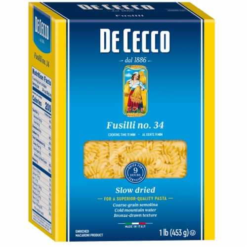 De Cecco Fusilli No. 34 Pasta Perspective: front