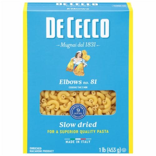 De Cecco Enriched Macaroni Elbow Pasta Perspective: front