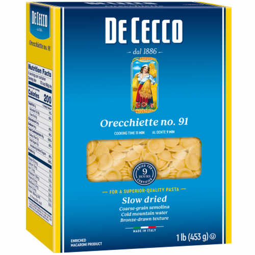 De Cecco Orecchiette Macaroni Product Perspective: front