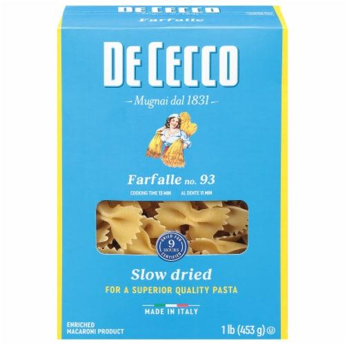 De Cecco Farfalle Bow Tie Pasta Perspective: front