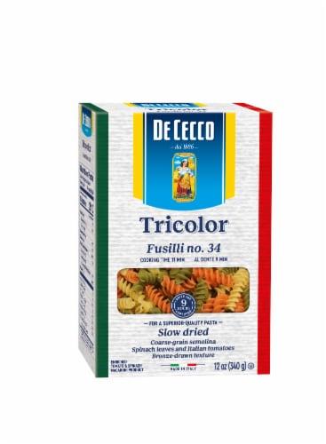 De Cecco Tricolor Fusilli Perspective: front