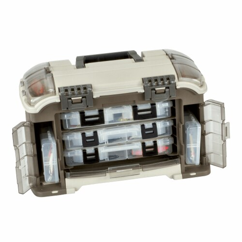 Plano Guide Series Angled StowAway Rack Tackle Box System for Fishing Storage Perspective: front