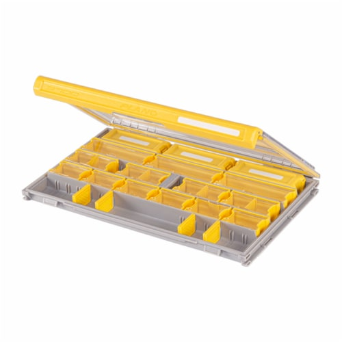 Plano PLASE400 Edge Fishing Terminal Tackle Box Storage Organizer with Dividers Perspective: front