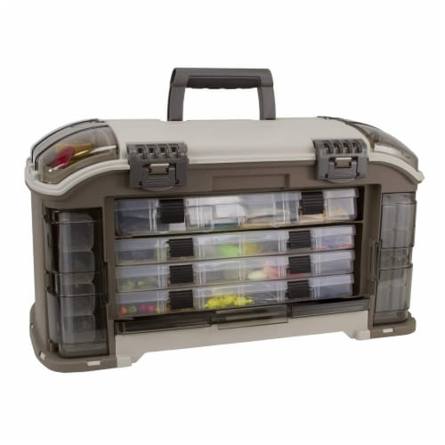 Plano Guide Series Angled StowAway Rack Fishing Tackle Box Storage Container Perspective: front