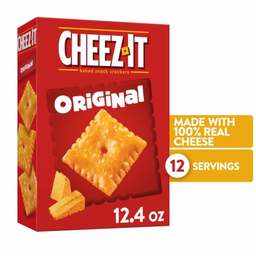 Cheez-It Original Baked Cheese Crackers Perspective: front