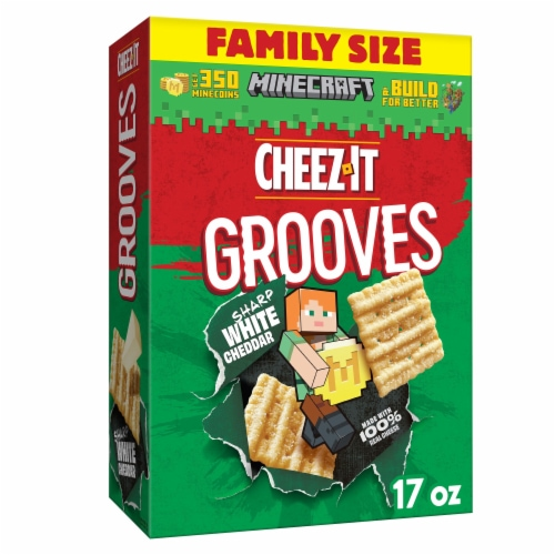 Cheez-It Grooves Sharp White Cheddar Snack Crackers Family Size Perspective: front