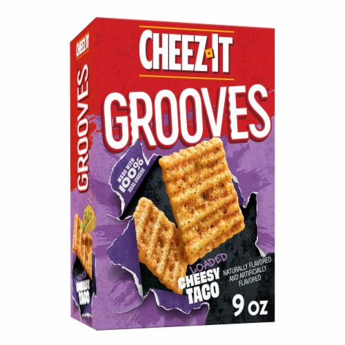 Cheez-It Grooves Crunchy Cheese Snack Crackers Loaded Cheesy Taco Perspective: front