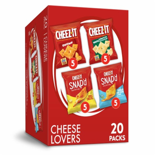 Cheez-It Cheese Lovers Snack Crackers Variety Pack 20 Count Perspective: front