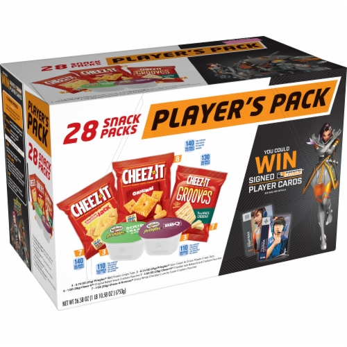 Cheez-It Overwatch Player's Pack Cracker Caddy Perspective: front