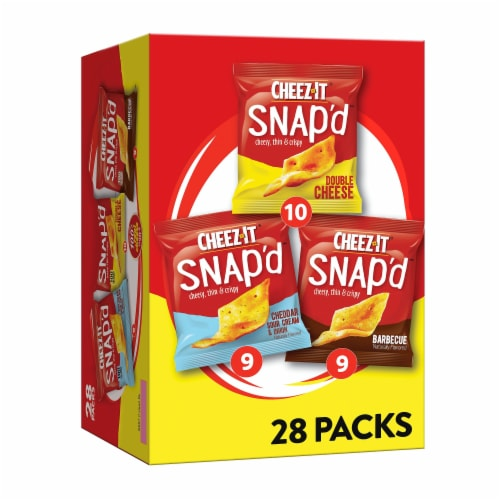Cheez-It Snap'd Cheesy Baked Snacks Variety Pack Perspective: front