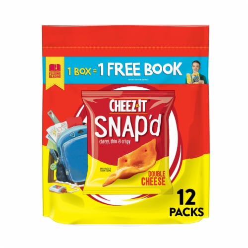 Cheez-It Snap'd Double Cheese Baked Snacks Perspective: front