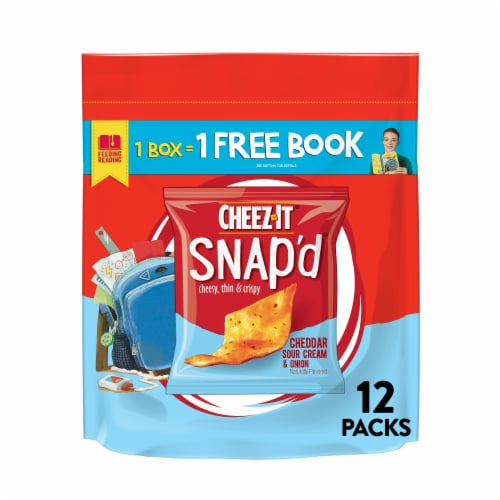 Cheez-It Snap'd Cheddar Sour Cream and Onion Baked Snacks Perspective: front