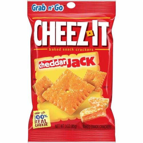 Cheez-It Cheddar Jack Crackers - 3 oz. bag, 36 per case Perspective: front