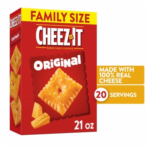 Cheez-It Baked Snack Cheese Crackers Original Family Size Perspective: front