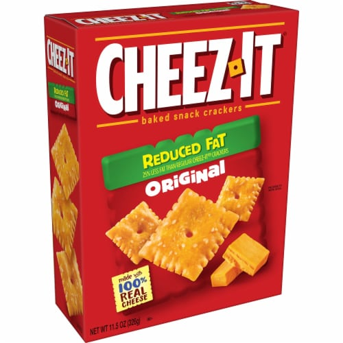 Cheez-It Baked Snack Cheese Crackers Reduced Fat Original Perspective: front