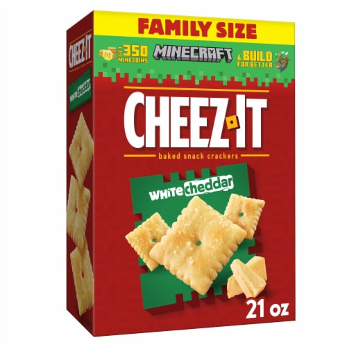Cheez-It Baked Snack Cheese Crackers White Cheddar Family Size Perspective: front