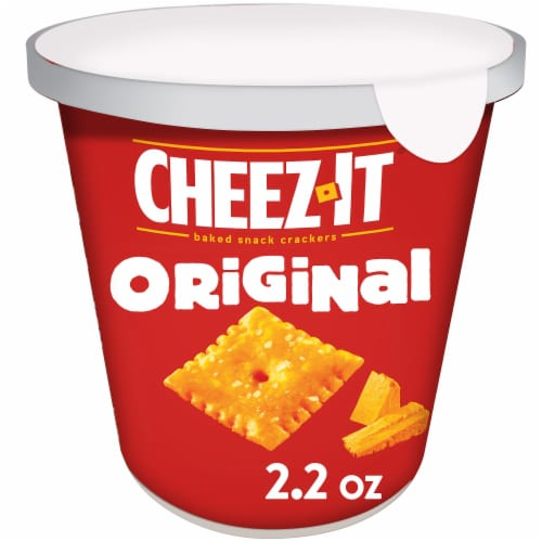 Cheez-It Original Baked Snack Crackers Cup Perspective: front