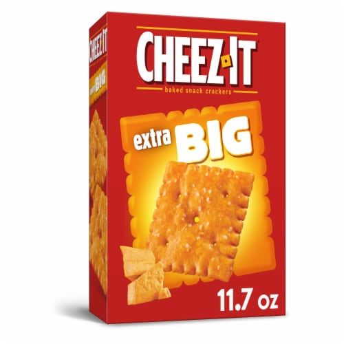 Cheez-It Baked Snack Cheese Crackers Extra Big Perspective: front