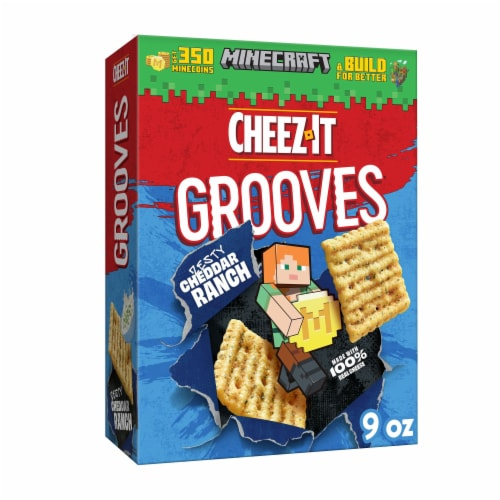 Cheez-It Grooves Crunchy Cheese Snack Crackers Zesty Cheddar Ranch Perspective: front