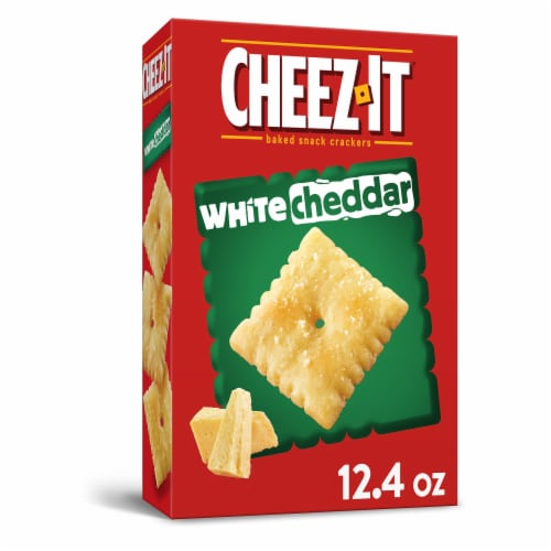 Cheez-It Baked Snack Cheese Crackers White Cheddar Perspective: front