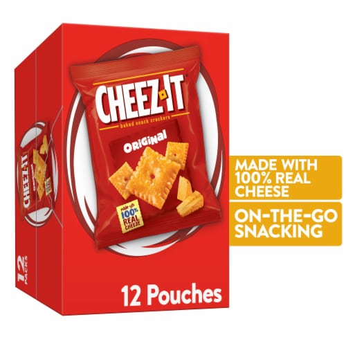 Cheez-It Original Baked Snack Crackers Packs 12 Count Perspective: front