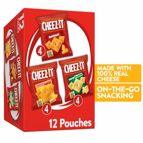 Cheez-It Baked Snack Crackers Variety Pack Perspective: front