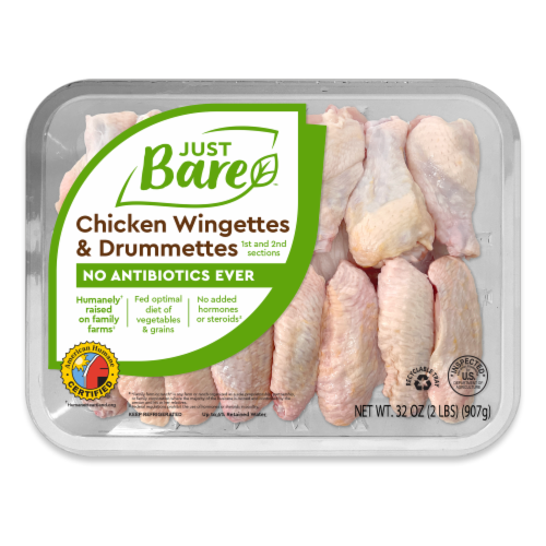 Just Bare Chicken Wingettes & Drimmettes Family Pack Perspective: front