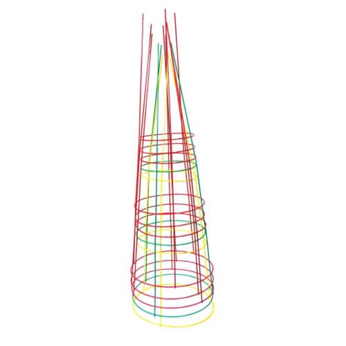 Glamos Wire 70443-5 42 in. Heavy-Duty Bright Combo Plant Support, Assorted Color - Pack of 5 Perspective: front