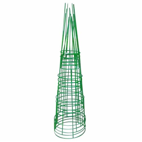 Glamos Wire Products 786676 54 in. Heavy Duty Light Green Plant Support - Pack of 5 Perspective: front