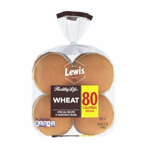Healthy Life Lewis Bake Shop Wheat Sandwich Buns 8 Count Perspective: front