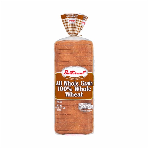 Butternut 100% Whole Wheat Bread Perspective: front